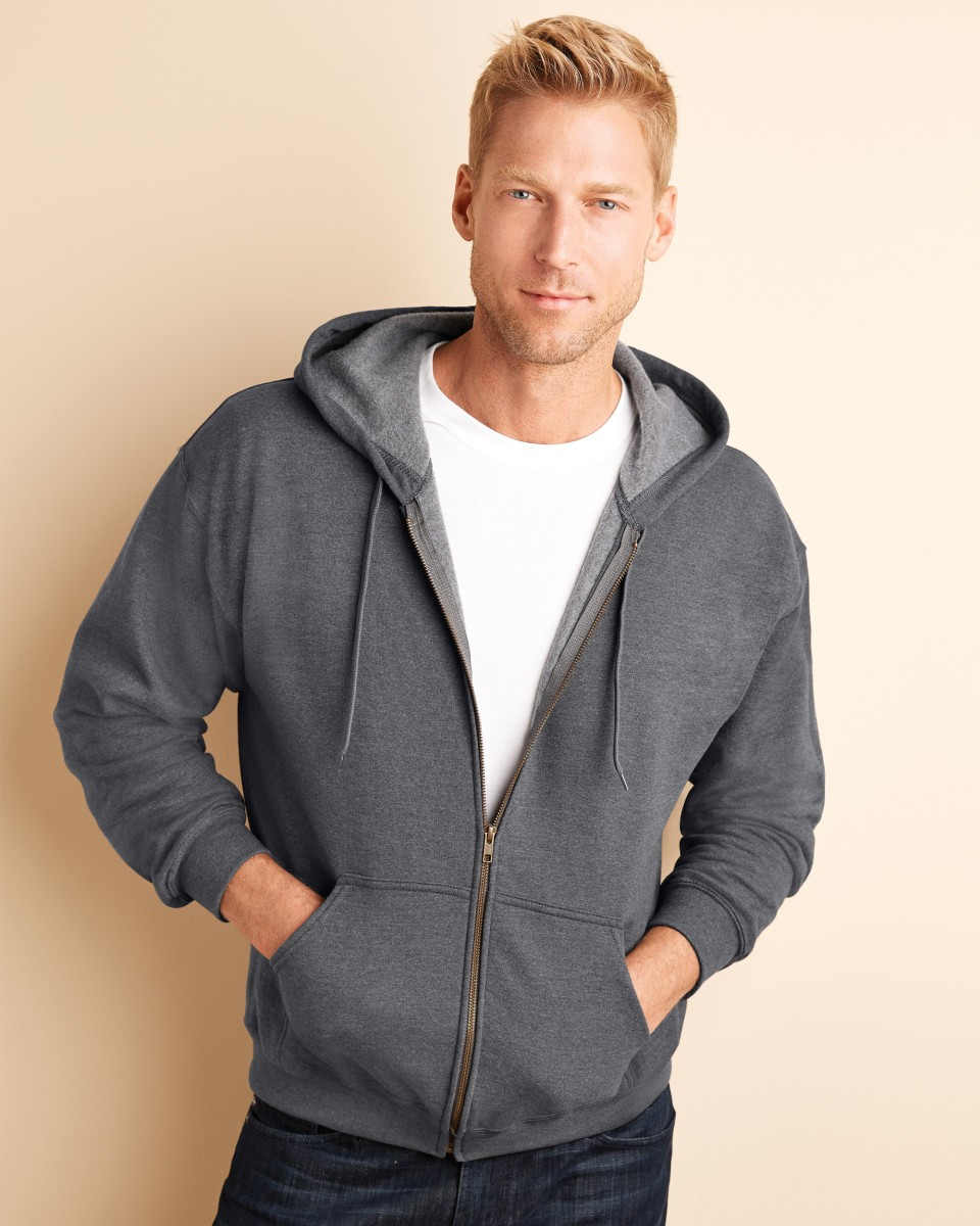 Heavy Blend Men's Vintage Full Zip Hooded Sweat