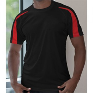 Rothley Park CC Performance T-Shirt Black/Red RCC17